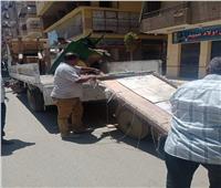 حملة موسعة لإزالة الإشغالات بحي الطالبية في الجيزة