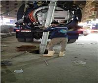 حملة لتطهير الصرف الصحي في بولاق الدكرور بالجيزة | صور