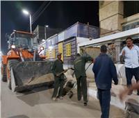 رفع 15 طن أتربة ومخلفات صلبة في حملة نظافة بشوارع إسنا