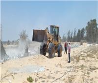 إزالة 6 حالات تعدي بمساحة 1719 متر مربع بنطاق 3 مراكز بالبحيرة