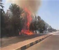 السيطرة على حريق في محطة مياه تحت الإنشاء بمدينة غرب قنا الجديدة