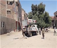 حملات إنارة ونظافة في منشأة القناطر بالجيزة | صور