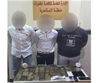 سقوط 5 تجار مخدرات بـ105 طربة حشيش بالإسكندرية والغربية