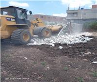 إزالة تعديات بمساحة 692 متر مربع بمركزي دمنهور والدلنجات