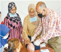 قافلة طبية من جامعة مدينة السادات لقرية « شنشور » بالمنوفية