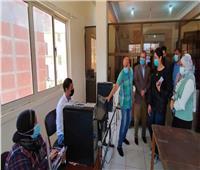جولة ميدانية لمتدربة البرنامج الرئاسي لمتابعة المشروعات بكفر الدوار