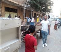 إزالة إشغالات طريق بالطالبية بعد شكوى الأهالي