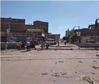 غلق مزلقان القرشية بمركز السنطة لتطويره