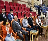 وزيرا الرياضة المصري والفلسطيني يشهدان فعاليات كأس الفراعنة للجمباز