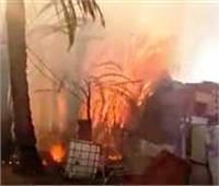 اندلاع حريق بمخزن للأخشاب بمنطقة عرب المعادي