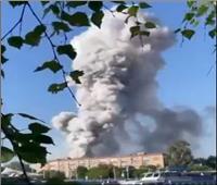 انفجار في مستودع للألعاب النارية في موسكو.. فيديو