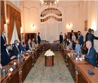 مباحثات ثنائية بين سامح شكري ووزيرة خارجية ليبيا   صور