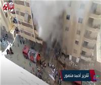 اللقطات الأولىلاندلاع حريق مخزن خشب عرب المعادي| فيديو