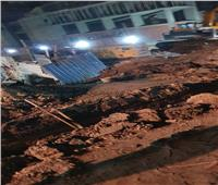 إصلاح الهبوط الأرضي بشارع المشتل في مصر القديمة