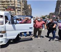 ضبط 35 سيارة مخالفة في حملة انضباط جهاز السرفيس بالجيزة