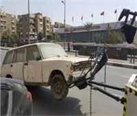 حملات مرورية مكثفة ورفع السيارات المتروكة بالشوارع بالقاهرة والجيزة
