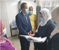 لمتابعة عزل مصابي كورونا.. وكيل صحة القليوبية يزور مستشفى قها المركزي