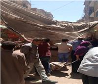 حملات مكثفة لرفع الإشغالات والنظافة بحي غرب مدينة المنيا