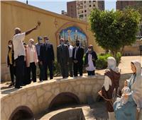 نائب محافظ القاهرة ووفد البرنامج الرئاسي يتفقدان تطوير شجرة مريم بالمطرية