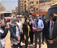 نائب محافظ القاهرة ووفد البرنامج الرئاسي يتفقدان محور عدلي منصور