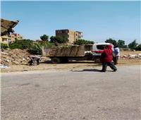 رفع218 طنمخلفات من قرى شبين الكوم   صور