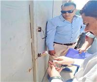 غلق وتشميع مخزن بلاستيك في أبو النمرس بالجيزة| صور