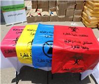 وزيرة البيئة تشهد تسليم مستشفياتجامعة القاهرة مستلزمات وأدوات طبية