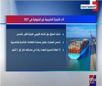 إنفوجراف حول أداء التجارة الخارجية غير البترولية فى 2021