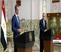الرئيس السيسي: التشاور مع اليونان مستمر حول القضايا الإقليمية والدولية