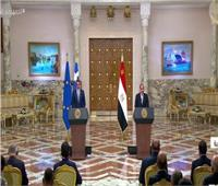 الرئيس السيسي: العلاقات بين مصر واليونان شهدت تناميًا ملحوظًا بكافة المجالات