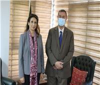 دياب اللوح يستقبل رئيسة مركز الإحصاء الفلسطيني
