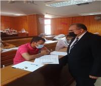 نائب رئيس جامعة السادات يتفقد سير الامتحانات بكليةالطب البيطري