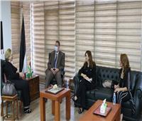 سفير فلسطين بالقاهرة يستقبل الأمين العام للاتحاد العربي للمرأة المتخصصة