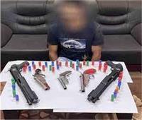 حبس مسجل خطر لحيازته سلاح ناري وكمية من مخدر الهيروين بالسلام