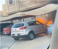إنقاذ العشرات من حريق هائل في السعودية.. فيديو