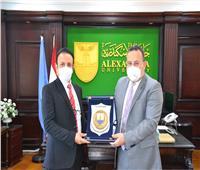 رئيس جامعة الإسكندرية يستقبل الملحق الثقافي السعودي لبحث سبل التعاون