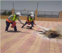 برنامج تدريبي لأخصائي السلامة والصحة المهنية بمحطات مياه أسيوط | صور