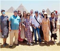 من أمام الأهرامات..وفد «الثقافة الروسية» يشيد بالحضارة المصرية| صور