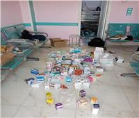 ضبط مركز طبي به صيدلية غير مرخصة في قنا| صور
