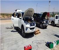 أول سيارة حكومية..محافظ الوادي الجديد يحول سيارته للعمل بالغاز الطبيعي