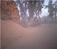 أهالي قرية أسديمة باغربية تستغيث بالمحافظ  بسبب غبار القمح