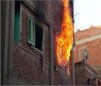 إصابة ربة منزل في حريق منزل  بقنا