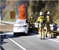 تحذيرات من مخاطر احتراق السيارات الكهربائية.. الاطفاء يستغرق 7 ساعات