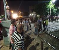 قطار يدهس  شاب أثناء عبوره مزلقان بني مزار بالمنيا