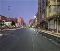 رصف شارع خاتم المرسلين في العمرانية بالجيزة | صور