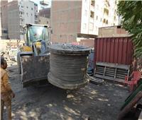 ضبط مخزن محولات كهرباء مخالف في شمال الجيزة | صور