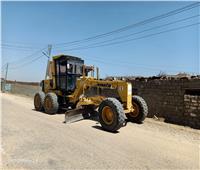 تطوير ونظافة الطرق المؤدية للطريق الإقليمي في منشأة القناطر بالجيزة| صور