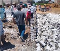 إزالة 11 حالة تعدِبالبناء على الأراضي الزراعية بالبحيرة