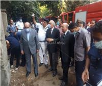 محافظ الجيزة ومدير الأمن يتفقدان حريق مبنى أرشيف مجلس الدولة | صور