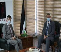 سفير فلسطين لدى مصر يلتقي نظيره البلجيكي بالقاهرة